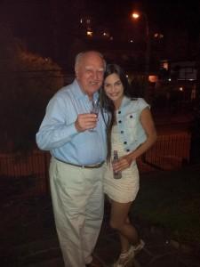 Martina Graf con su abuelo
