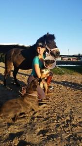Martina Graf y su amor por los caballos