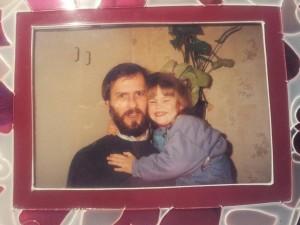 Martina Graf de chica con su padre