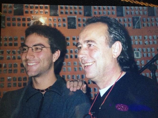 Federico Righi con Serrat