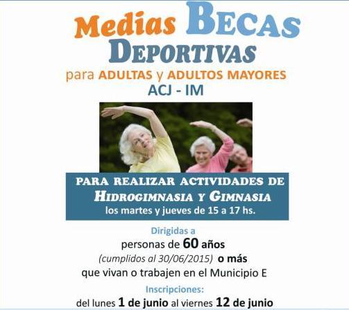 Medias becas para mayores de 60 años en ACJ Portones