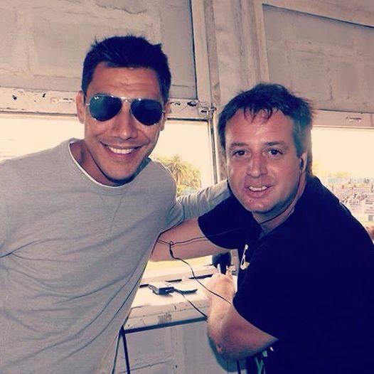 Martín Paolillo con Damián Herrera
