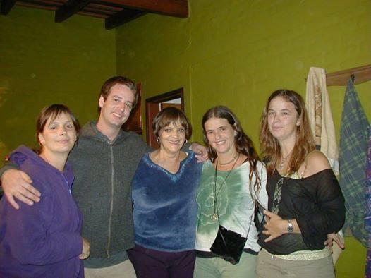 Martín con su familia