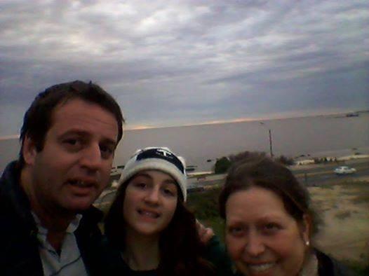 Con su hija Renata