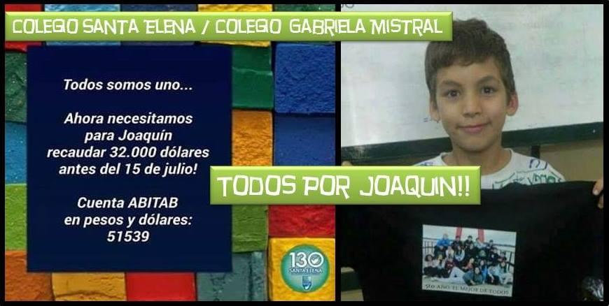 Distintas iniciativas para ayudar a Joaquín