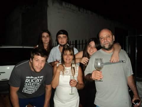 Diego Magno y su familia