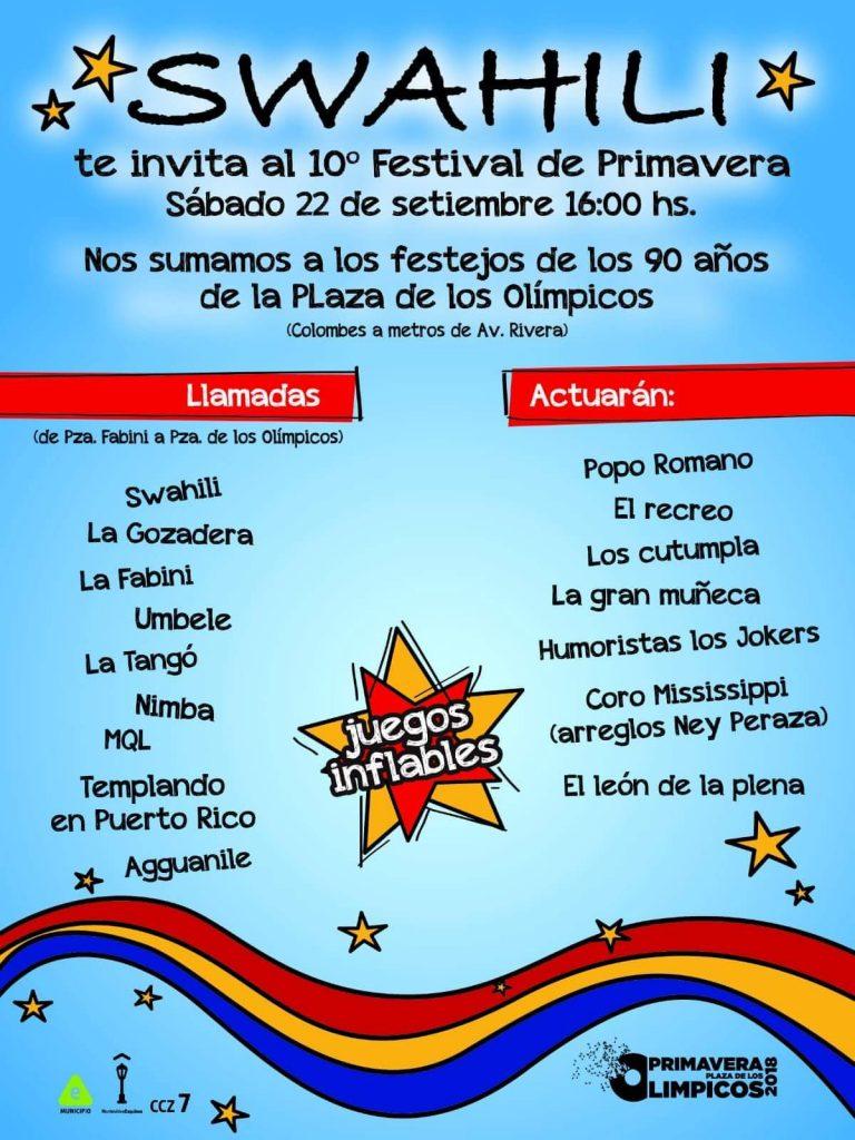 10° Festival de Primavera en Plaza de los Olímpicos