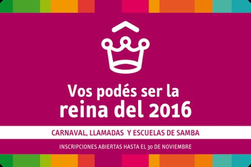 Inscripciones para Reinas de Carnaval 2016