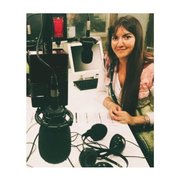 Magdalena Prado en el estudio