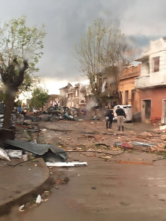 Tornado en Dolores: todos a colaborar