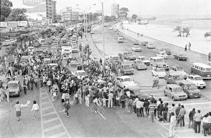 Rambla de Malvín: recibimiento a Los Olimareños 1984