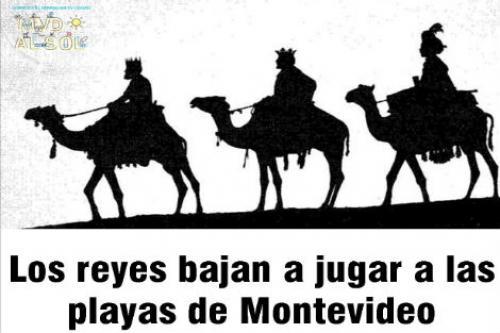 Los Reyes Magos en la Playa Malvín