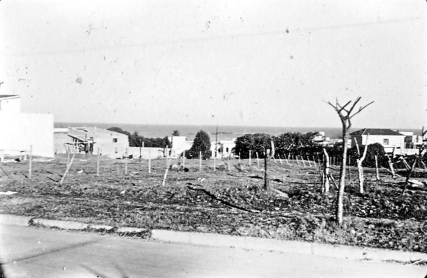 Esquina de Verdi y Atlántico en 1950 (foto Alberto Angenscheidt)