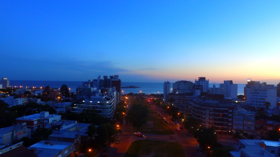 Anochece en Concepción del Uruguay