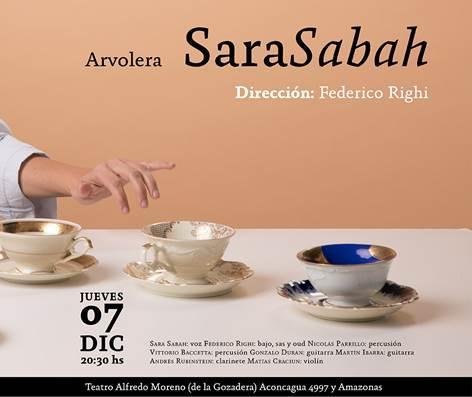 Sara Sabah bajo la dirección de Federico Righi este jueves 7 en el Teatro Alfredo Moreno
