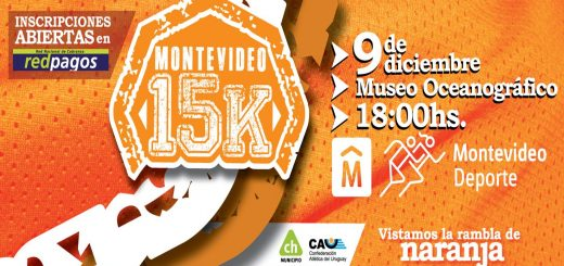 15 K Montevideo 2017: sábado 9 de diciembre!