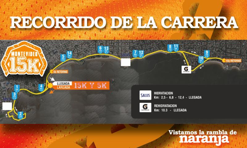 15 K Montevideo recorrido
