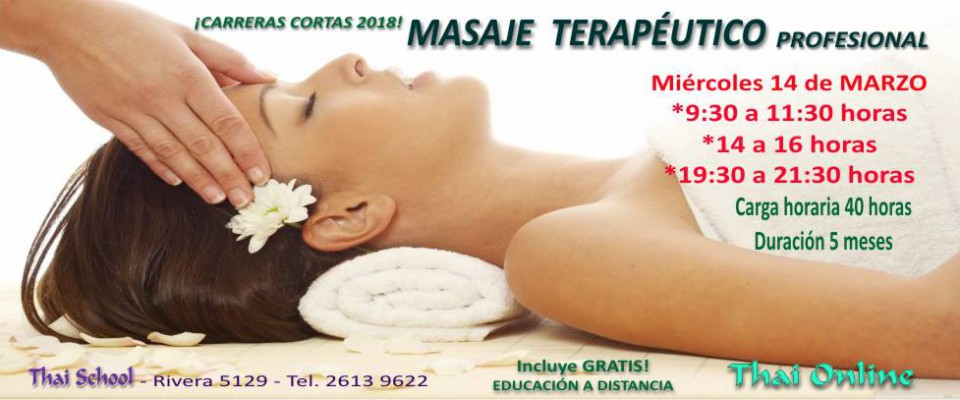 Cursos cortos 2018: masaje terapéutico
