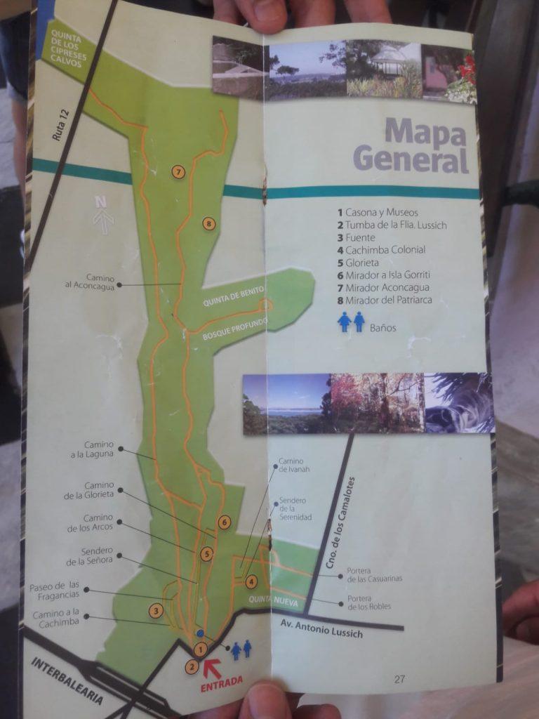 Visita al Arboretum Lussich mapa