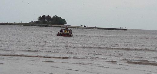 Hasta las 12 se pudo cruzar a la Isla de las Gaviotas, luego se suspendieron las actividades