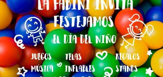 Día del Niño en La Fabini sábado 31 de agosto. No te lo pierdas!