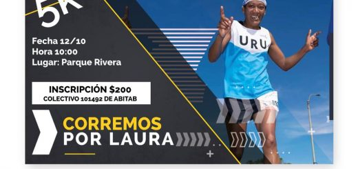 Todos Corremos por Laura el sábado 12 de octubre en el Parque Rivera!