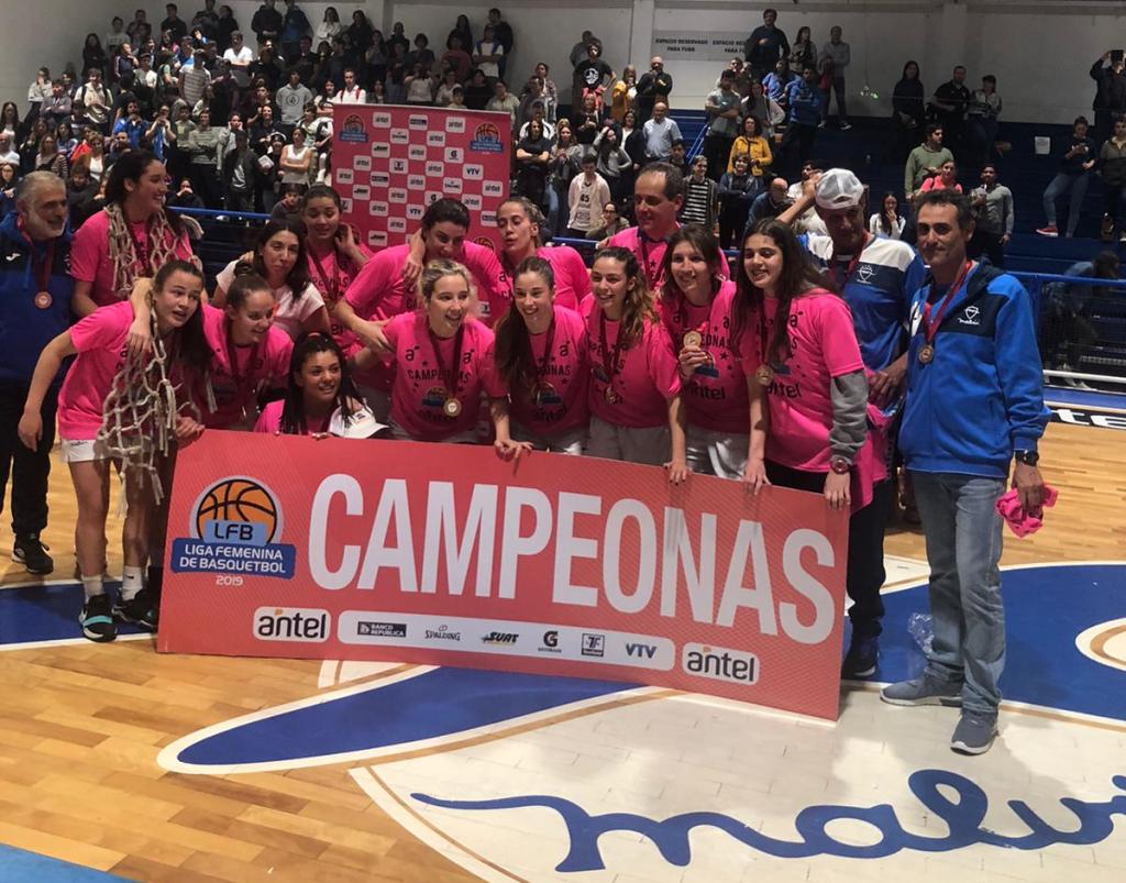 Malvín campeón Liga Femenina de Básquetbol 2019!!! Felicitaciones!