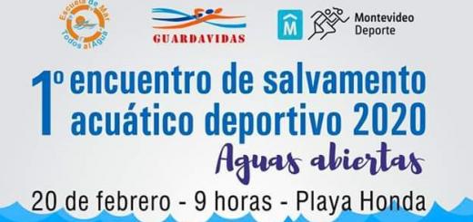 Primer encuentro de Salvamento Deportivo 2020 en Playa Honda