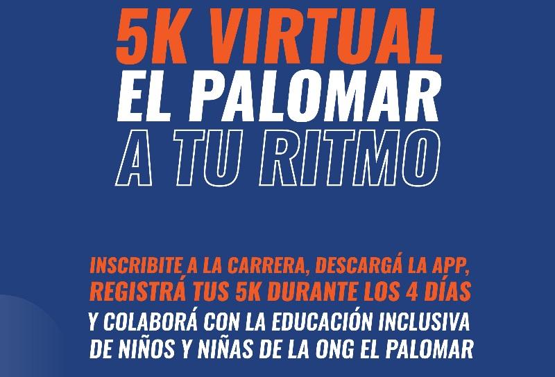 5K Virtual y Participativa Ong El Palomar! Sumate!