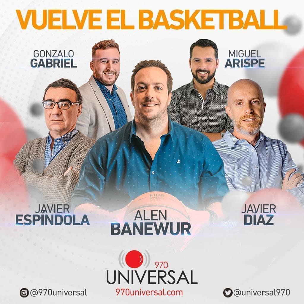 Javier integra el equipo de básquetbol de Radio Universal