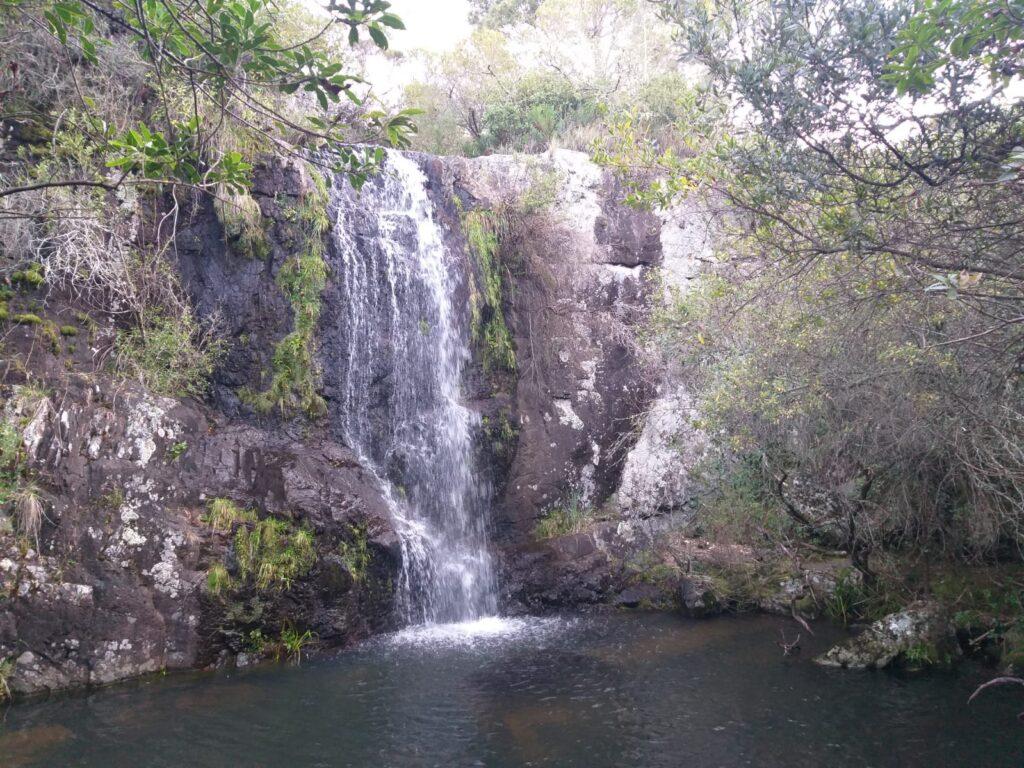 La Cascada del Venado se ubica antes de llegar al Cañadón de la Palma